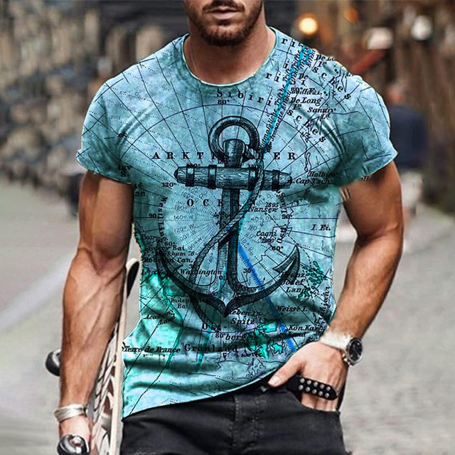 New style hot sale in 2021, 3D men's T-shirt, gentleman style design, short sleeves, summer fashion 3