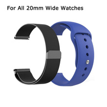 Smartwatch Metal Replacement Strap Stainless Steel Band Silica Replacement Bracelets for P70 P80 T80 P68 Y6 PRO Q8 Q9 SX16