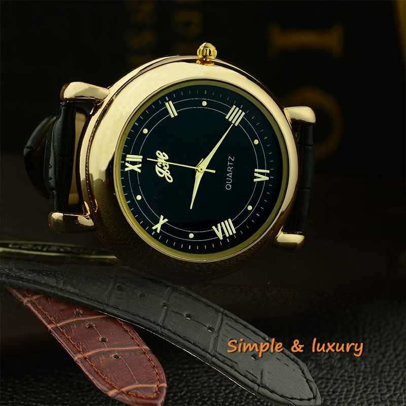 שעון גברים מצית קוורץ שעוני יד USB תשלום להחליף חימום חוט מחנה אש אופנה רטרו זכר שעון JH358