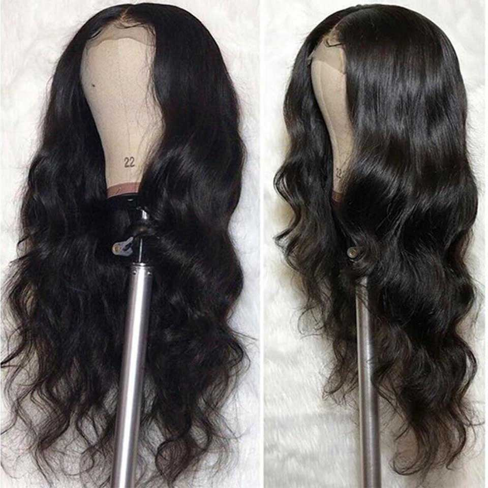 180 Density Brazilian Body Wave Lace Front Wig With Closure For Black Women 13x4 Pre Plucked Glueless Lace Front Human Hair Wigs