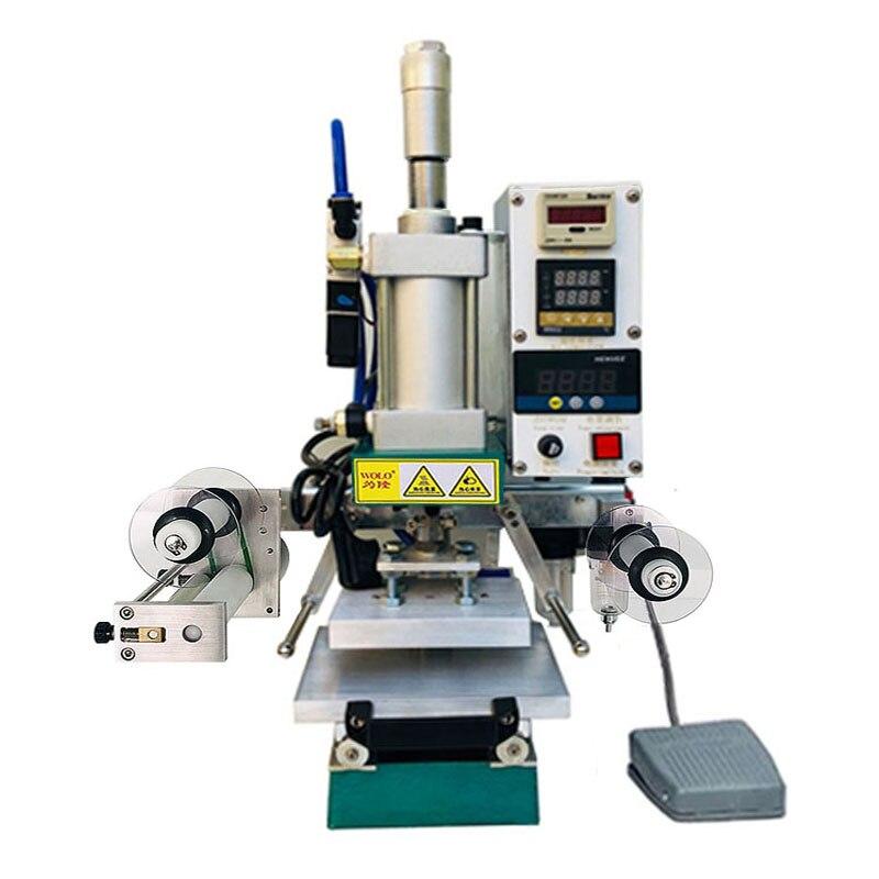 Voll automatische Heißfolienprägung Maschine Manuelle Digitale PVC Karte Buch Leder Papier Holz Custom Präge Wärme Drücken Maschine