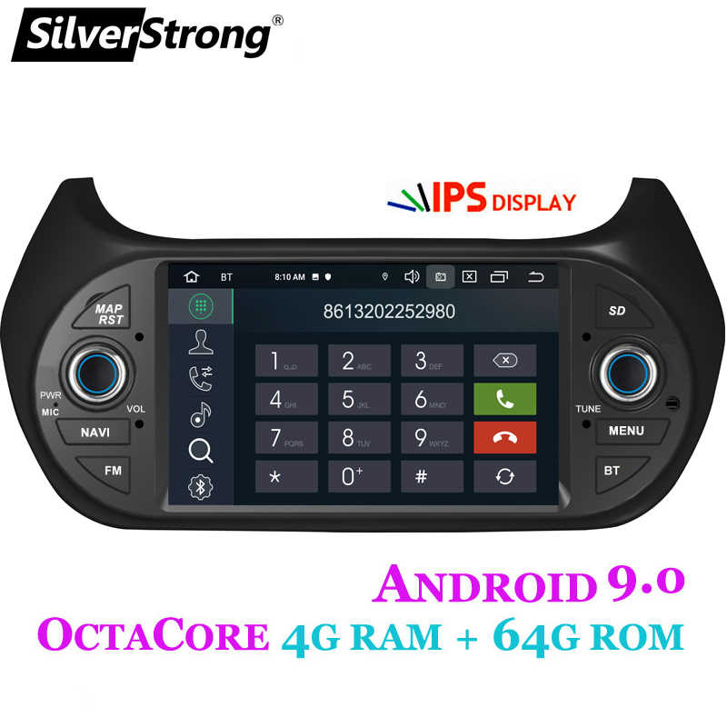 SilverStrong カーマルチメディアプレーヤー GPS Android9.0 車ラジオ 1Din DVD 4 グラムフィアット/Fiorino/Qubo/シトロエン /ニモ/プジョー/Bipper 2G16G