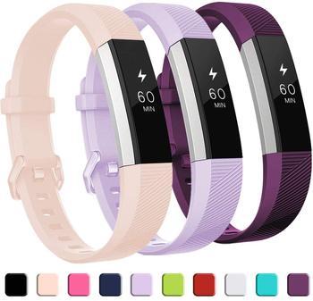 Wysokiej jakości miękki silikon bezpieczna regulowana opaska dla Fitbit Alta HR Band opaska bransoletka z paskiem wymiana zegarków akcesoria tanie i dobre opinie Geekthink CN (pochodzenie) 22 cm RUBBER Nowy bez tagów FBB0073 buckle