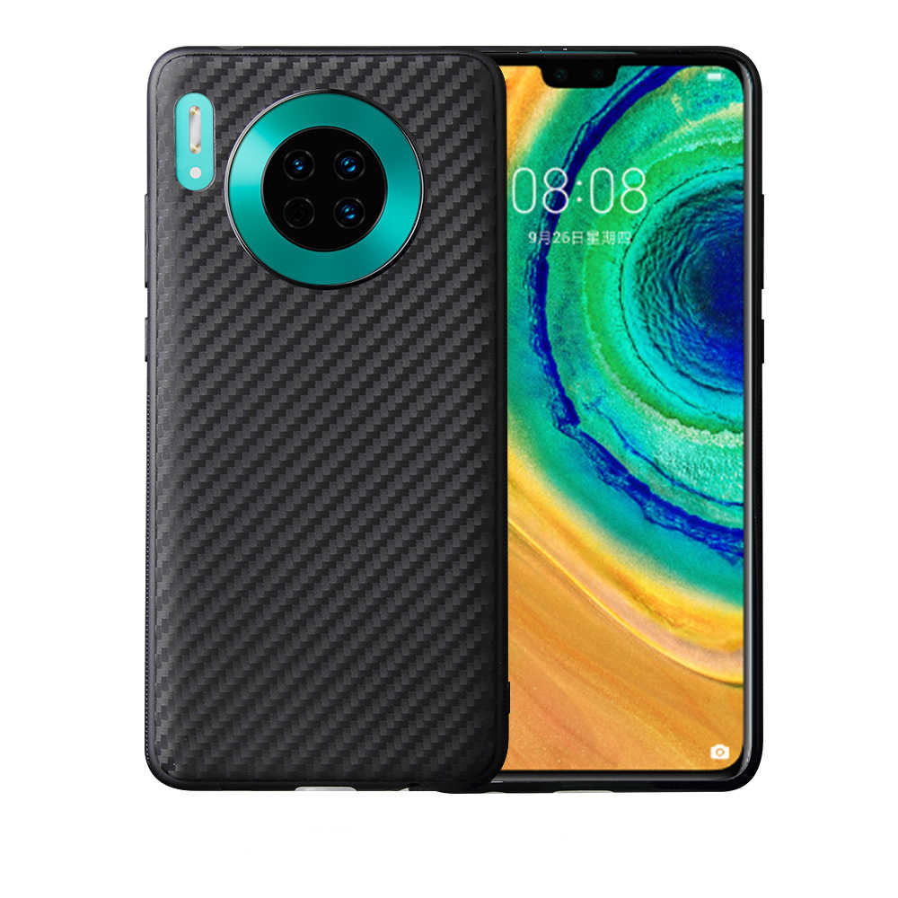 Durable Matte Soft Case for Huawei P30 P20 Pro Mate 30 20 Lite P Smart 2019 Y6 Y7 Y8 Y9 2018 Carbon Fiber Slim Fit Back Cover