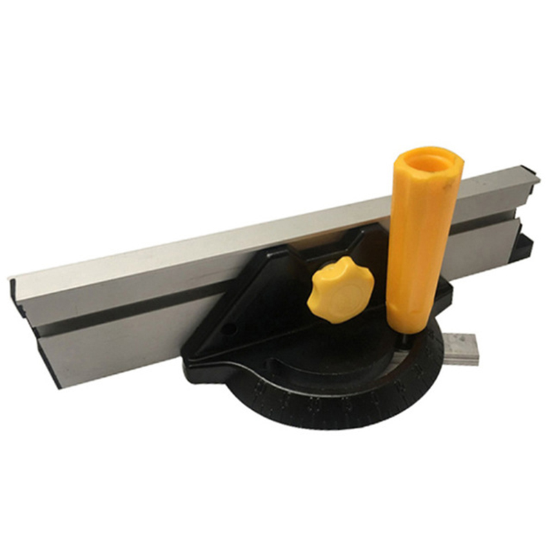 Woodworking Diy Carpenter Tool Accessories Miter Gauge Kit With Adjustable Flip Stop Angle Table Saw Pusher For The Countertop