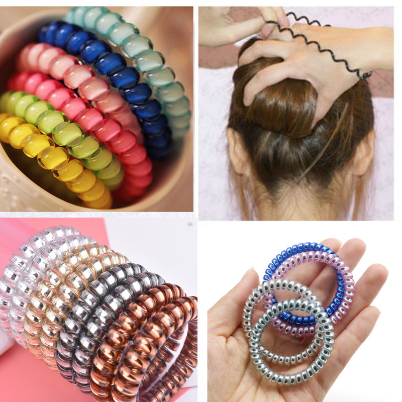 10/15pcs Elastic Hair Bands For Women Girls Hair Accessories Ponytail Hair Ties Gum Rubber Band Telephone Wire Hair Rope Tools