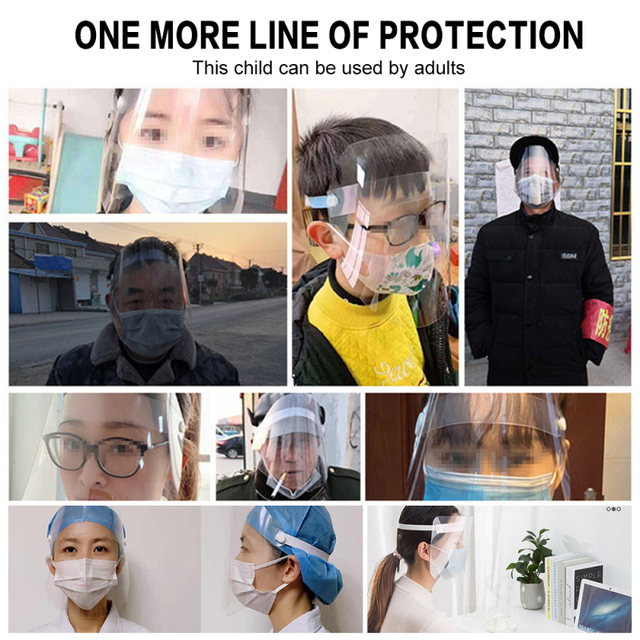 In stock Adult Transparent Mask Film Anti-fog Mask Sheet Environmental Protection Isolation Mask Protective Face Screen 2