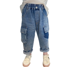 Patchwork Jeans Toddler Girls Winter Solid for Kids Autumn