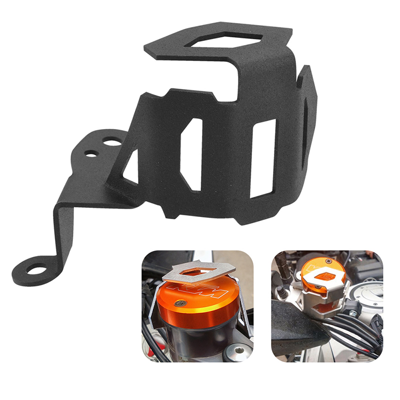 for KTM 1050 1190 1290 Super Adventure R 2013-2018 Motorcycle Front Brake Pump Fluid Reservoir Guard Oil Cup Cover enlarge