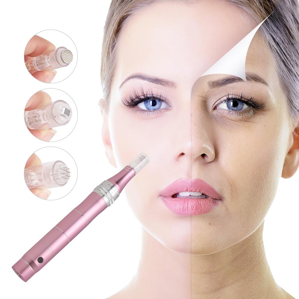 Микро крошечные иглы стимулируют подтягивание кожи удаляет шрам уменьшает морщины шрам растяжек устройство для удаления кожи dr derma pen Устройство для ухода за кожей лица      АлиЭкспресс