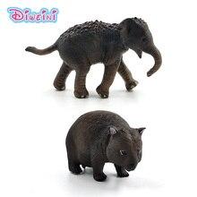 Simülasyon küçük sincap fil Wombat orman hayvan modeli şekil plastik dekorasyon eğitici oyuncaklar heykelcik hediye çocuklar için