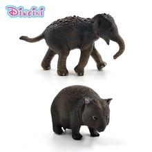 Simulatie Kleine Eekhoorn Olifant Wombat Bos Dier Model Figuur Plastic Decoratie Educatief Speelgoed Beeldje Cadeau Voor Kinderen