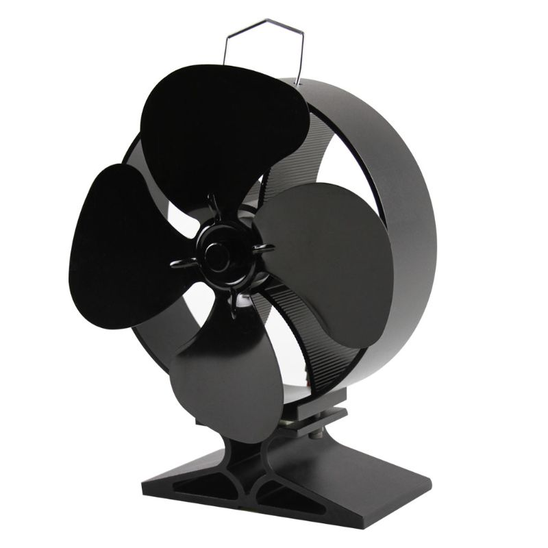 4 Blades Heat Powered Stove Fan For Fireplace Top Efficient Heat For Large Room 23GB