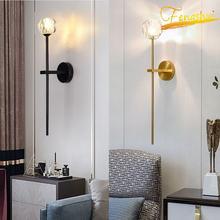 Современная настенная лампа в стиле ретро с хрустальным шариком