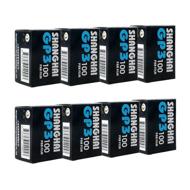 Etone 8 Rolls Shanghai Black & White B/W GP3 135 35Mm Negatieve Film Iso 100 Originele