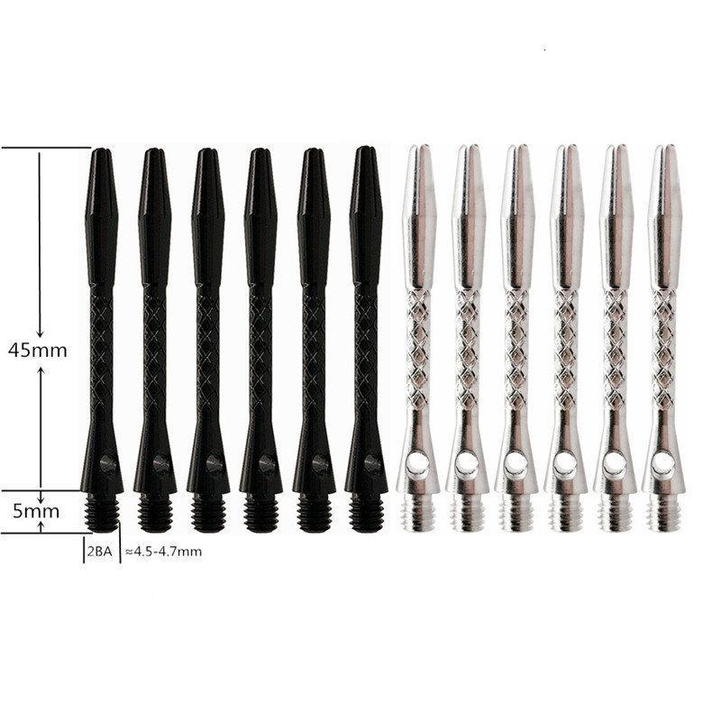 6pcs 45mm Darts Shafts Aluminium 2BA Dart Shaft For Professional Darts Nice Dart Shafts Accessories