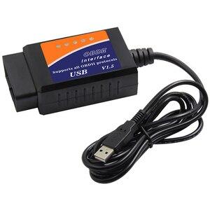 Image 5 - Herramienta de diagnóstico de coche, escáner USB ELM327 V1.5 OBD2, ELM 327 V1.5, compatible con protocolos OBD II para código de fallas de motor