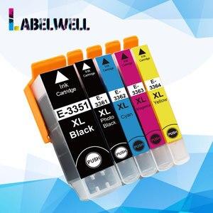 Labelwell 33XL pojemnik z tuszem 33 xl T3351 T3361 kompatybilny dla Epson XP-530 XP-630 XP-830 XP-635 XP-540 XP-640 XP-645 drukarki