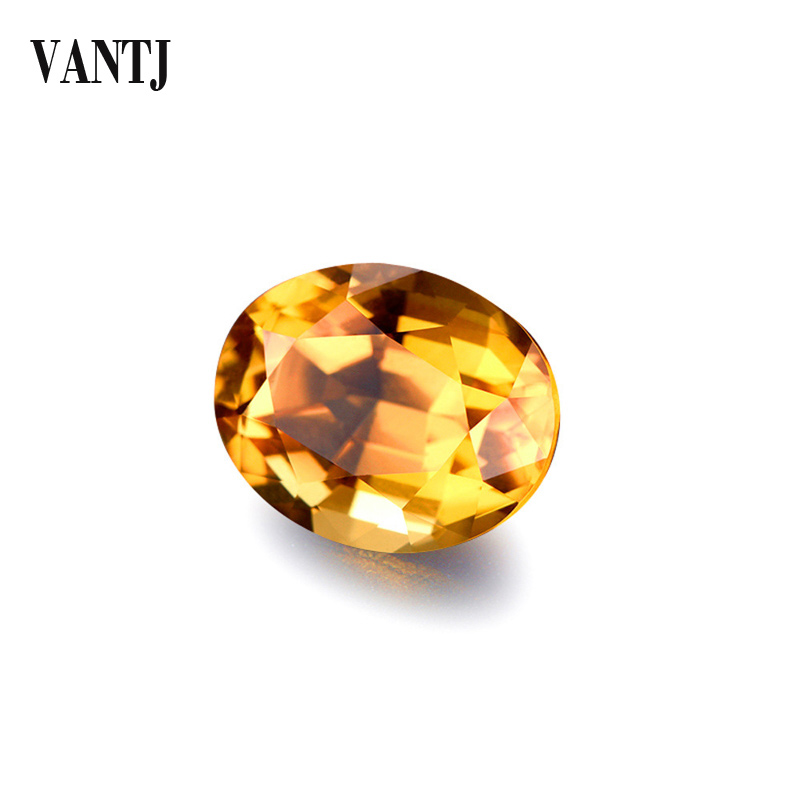 VANTJ Natural Citrine Loose Gemstone Oval Cut Women For Silver Gold Ring Mounting Diy Jewelry Women Party Gift