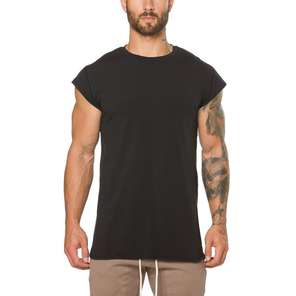 Hot Sale Mens Summer Fitness Solid Color   Tank     Tops   Male Sport Gym Bodybuilding Muscle Tees Fashion Casual Solid Color Vest   Tank
