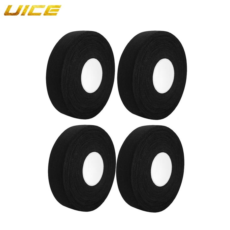 Ice Hockey Tape Stick Black White Cotton Sports Tape For Badminton Hockey Stick Climbers Athletic Equipment