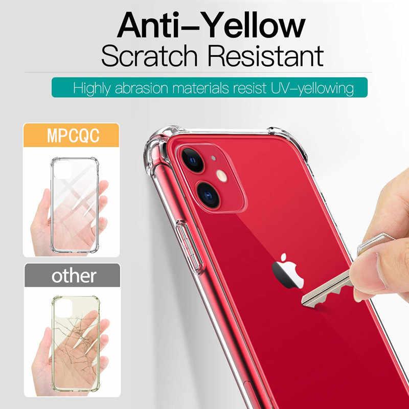 ファッション耐震バンパー透明シリコーン電話ケース iphone 11 Pro X XR XS 最大 8 7 6s プラスクリア保護バックカバー