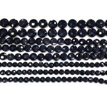 Натуральный черный оникс монета свободные бисера исцеление энергии камень DIY изготовления ювелирных изделий браслет ожерелье�нестандартная конструкция 8x8mm для 30х30мм