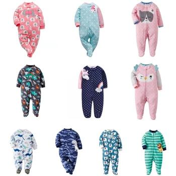 NEWBORN BABY GIRL JUMPSUIT cartoon unicorn winter clothes long sleeve footies new born boy sleep pajamas 0-12 month costume 1