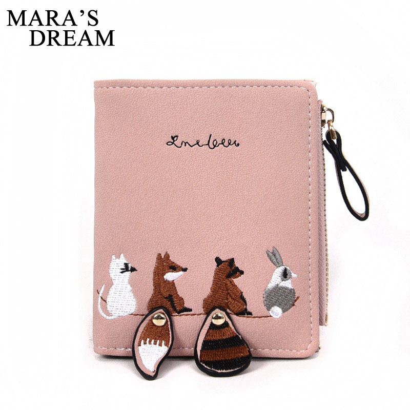 2020 NEW Women's Wallet Lovely Cartoon Animals Short Leather Female Small Coin Purse Hasp Zipper Purse Card Holder For Girls