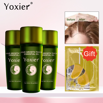 Yoxier 3Pcs Hair Growth Essence Oil Effective Extract Anti Nourish Hair Roots Treatment Preventing Hair Loss Hair Care Products