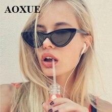AOXUE Hot Fashion Cute Sexy Ladies Cat Eye Sunglasses Women Vintage Brand Small Sun Glasses Woman Female Oculos de sol UV400