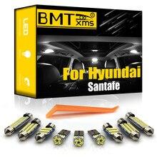 Bmtxms canbus para hyundai santafe santa fe sm cm dm ix45 2001-2020 veículo conduziu lâmpadas de lâmpada de placa de licença do jogo de luz interior
