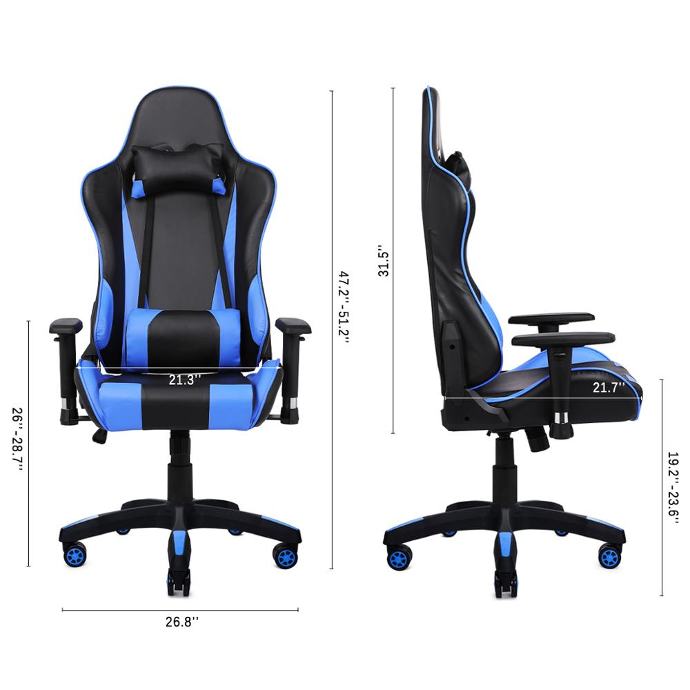 Купить с кэшбэком Ehomebuy Gaming Chair Office Chair High Back Racing Chair Reclining Ergonomic Adjustable Swivel Task Chair with Headrest