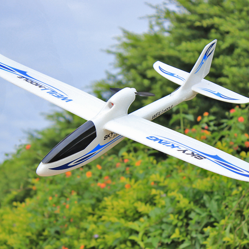 Weili F959 Remote Control Fixed-Wing Glider Three-Channel Backward-Push Remote Control Model Plane Novice Practice Machine
