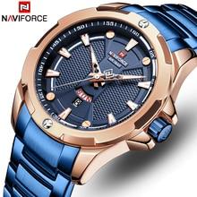 NAVIFORCE Men's Watches Top Luxury Brand Men Waterproof Quartz Watch Stainless Steel Date Analog Male Clock Relogio Masculino