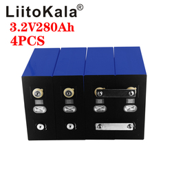 4PCS LiitoKala 3.2V 280Ah lifepo4 battery DIY 12V 280AH rechargeable battery pack for E-scooter RV Solar Energy storage system