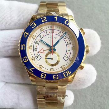 Luksusowa Watche automatyczna niebieska ceramiczna ramka szkiełka zegarka męskie zegarki ze stali nierdzewnej szafirowe szkło YACHT Mater zegarek wielofunkcyjny tanie i dobre opinie pastory Bransoletka zapięcie 10Bar STAINLESS STEEL Automatyczne self-wiatr 22cm Luxury ru ROUND Nie pakiet Odporny na wstrząsy