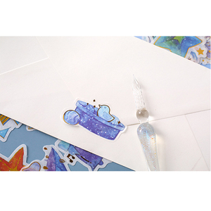 Image 3 - 20packs/lot Flash Label Stickers Have Your Starry Sky Series Toys For Children Sticker Pack eight Selections