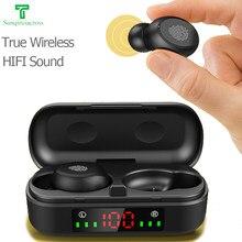 Tws fone de ouvido bluetooth verdadeiro sem fio fones de ouvido fone pro ps4 estéreo jogos esporte