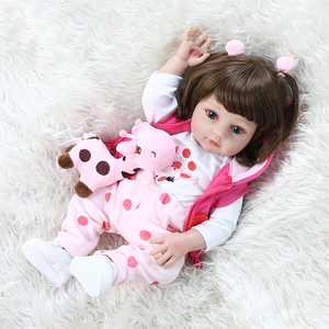 Image 5 - NPK 48CM popular full body soft silicone bebe doll reborn baby girl in the giraffe dress set Christmas Gift neborn baby