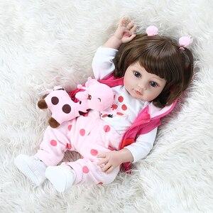 Image 5 - NPK Muñeca de bebé de cuerpo completo, bebé recién nacido de silicona suave, vestido de jirafa, regalo de Navidad, 48CM