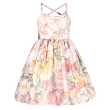 Flofallzique/Хлопковые Платья с цветочным рисунком для маленьких девочек; для рождественской вечеринки; повседневная одежда; милый стиль