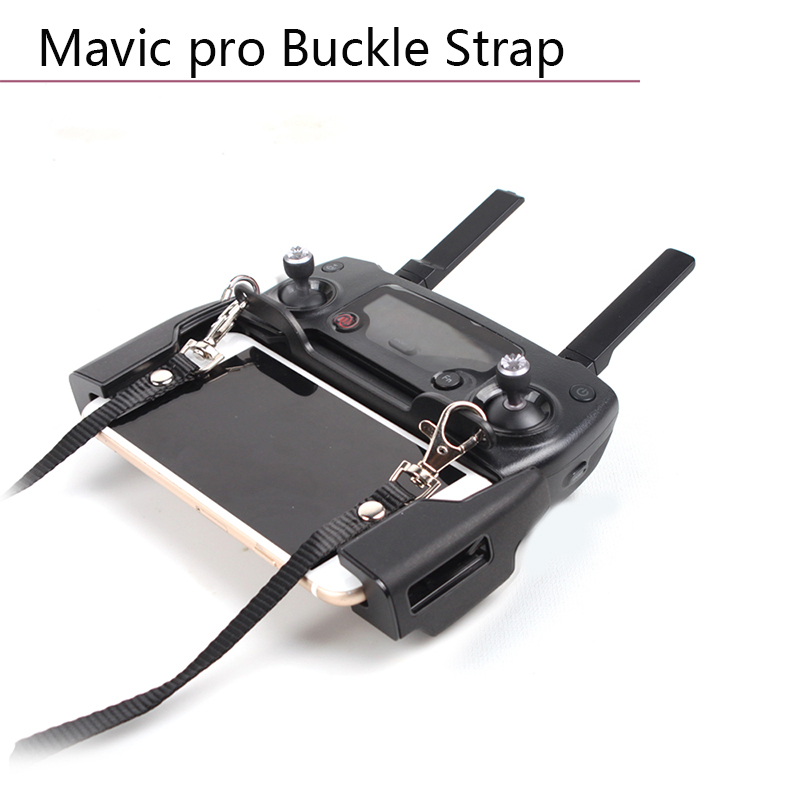 Dual Hook Bracket Buckle Strap Lanyard Remote Control For DJI Mavic Pro Mavic 2 Zoom Spark Mavic Air/MINI Transmitter Mount