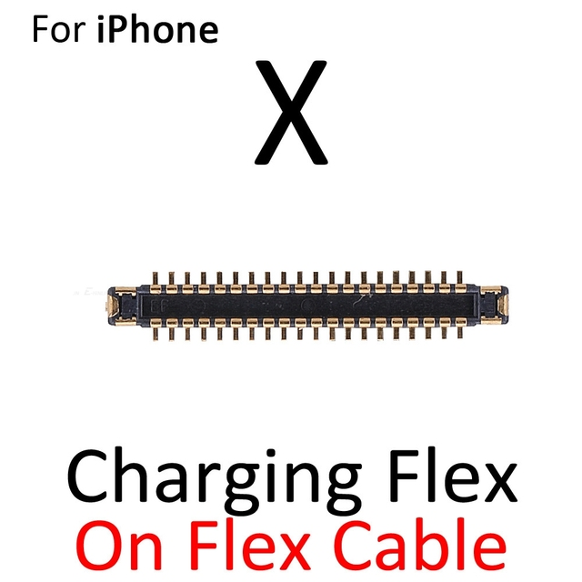 2pcs/lot Charging Dock Port FPC Connector For iPhone 6S 7 8 Plus X XS Max XR Logic On Motherboard Mainboard