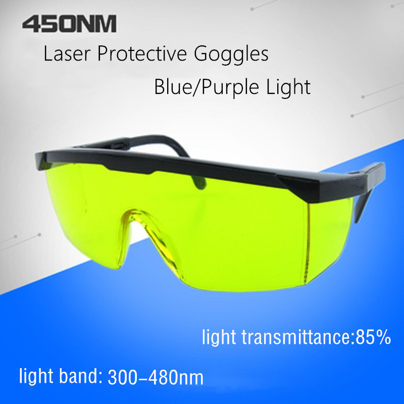 Anti-laser Polycarbonate Protective Goggles 450nm Blue Light Picosecond Purple Light UV Protection Nail Artist