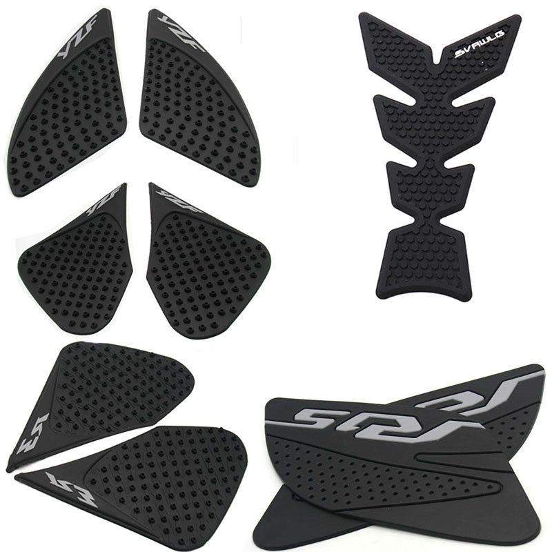 Motorcycle Tank Traction Pad Grips Rubber Gas Tank Decals Knee Protector For Yamaha YZF R3 2013-2016