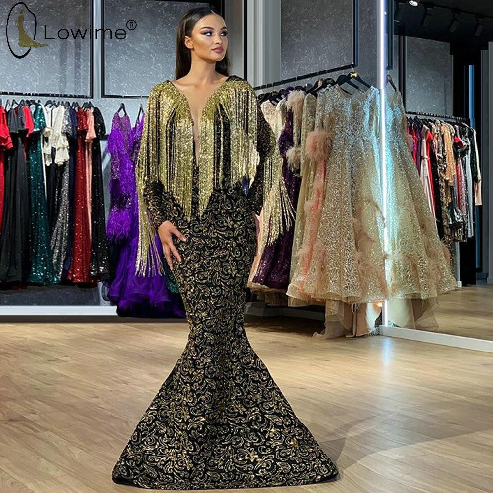 2020 Sexy Illusion Deep V Neck Mermaid Evening Dresses Beading Applique Saudi Arabia Dubai Robe De Soiree Prom Party Gowns
