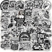 50 шт черно белые винтажные локомотивные наклейки для ноутбука