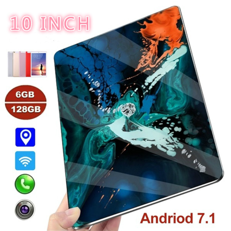 2020 New 10 Inch Tablet Pc Dual SIM 4G Phone Tablet WIFI Andriod 7.1 Ten Core Tablet With 6G And 128GB Memory Phone Pad
