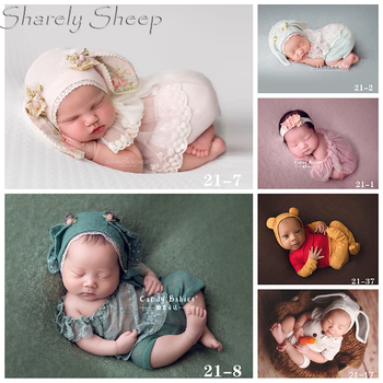 Newborn Baby Photography Lace Costume Infant Girl Photo Shoot Cartoon Hat+Rompers Set Clothes bebe fotoshooting Accessories